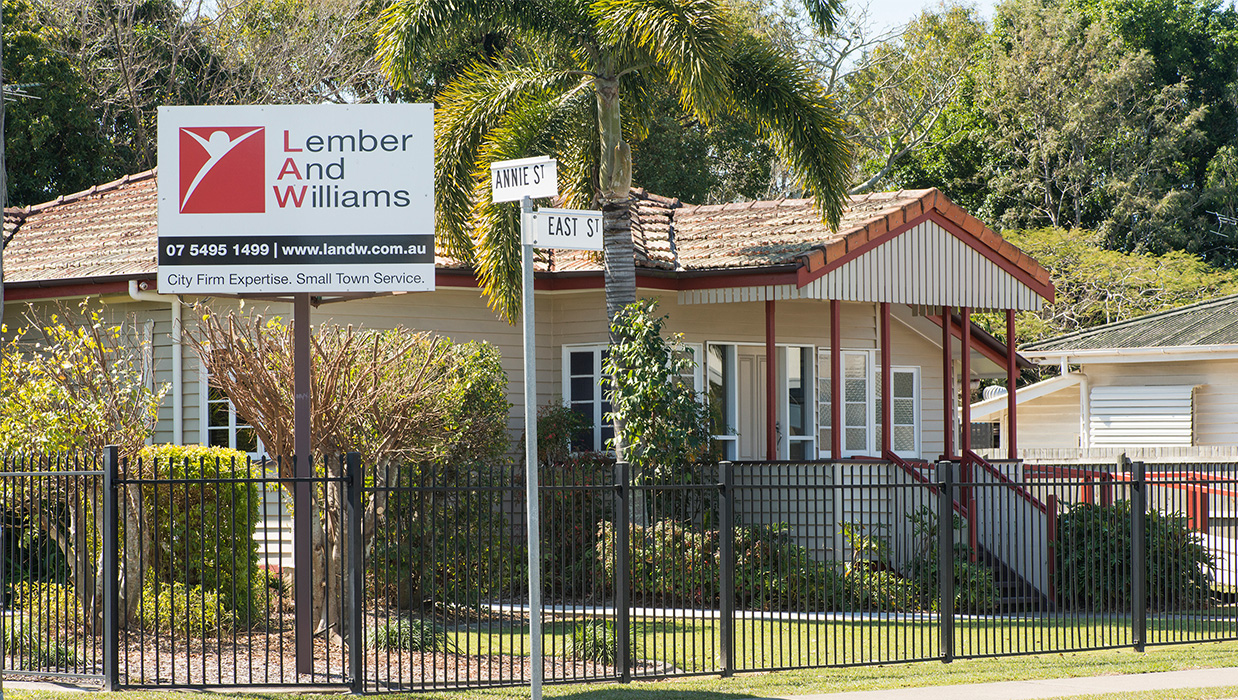 Image of Lember and Williams offices in Caboolture